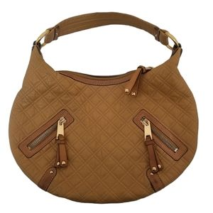 Marc Jacobs Camel Quilted Leather Hobo Bag